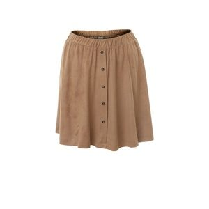 Light Brown Suede Skirt- Kismet